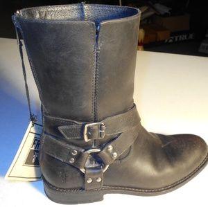 Womens Frye Jayden Harness Zip Boots